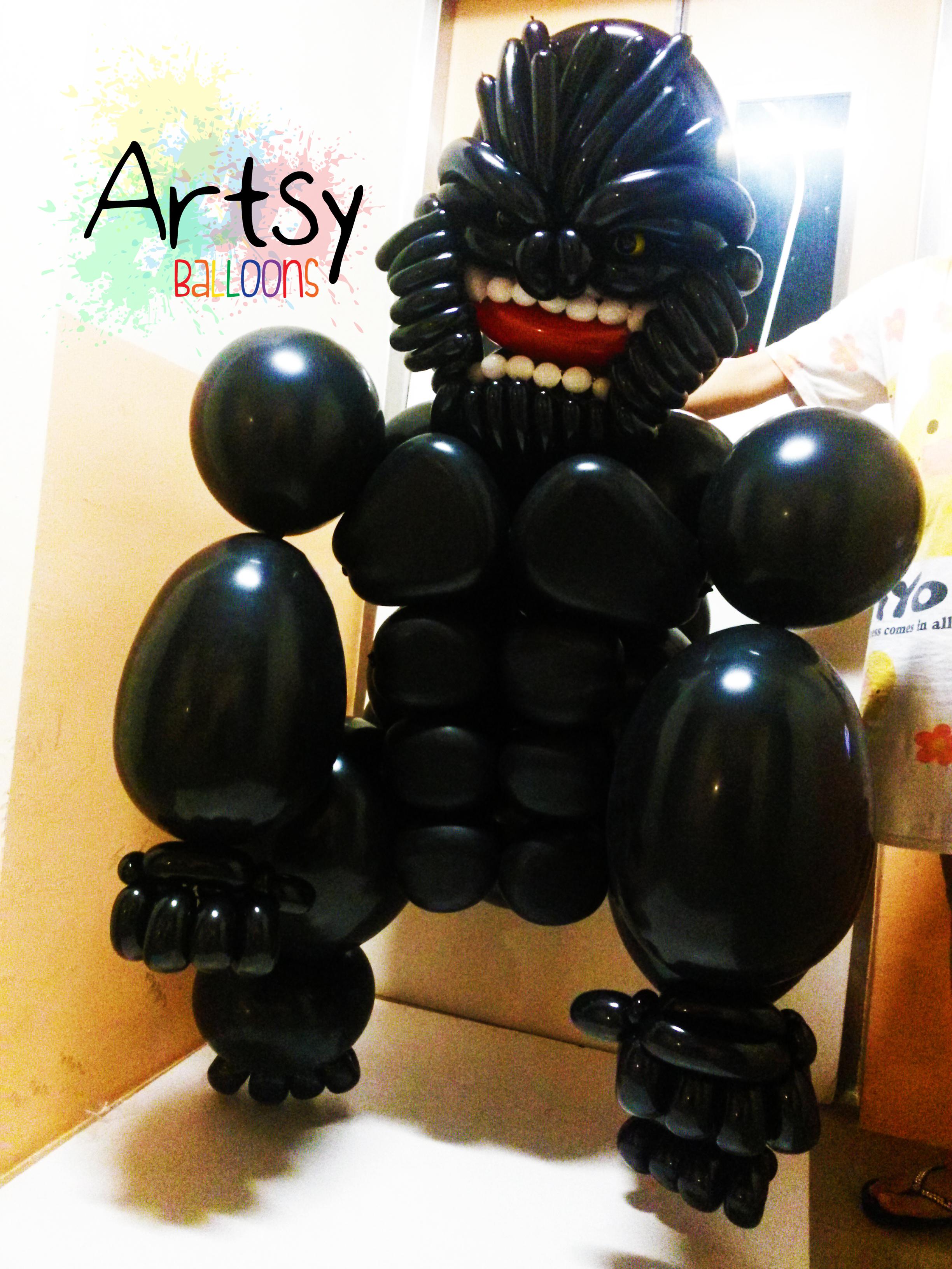 , Live Size King Kong Balloon Sculpture, Singapore Balloon Decoration Services - Balloon Workshop and Balloon Sculpting