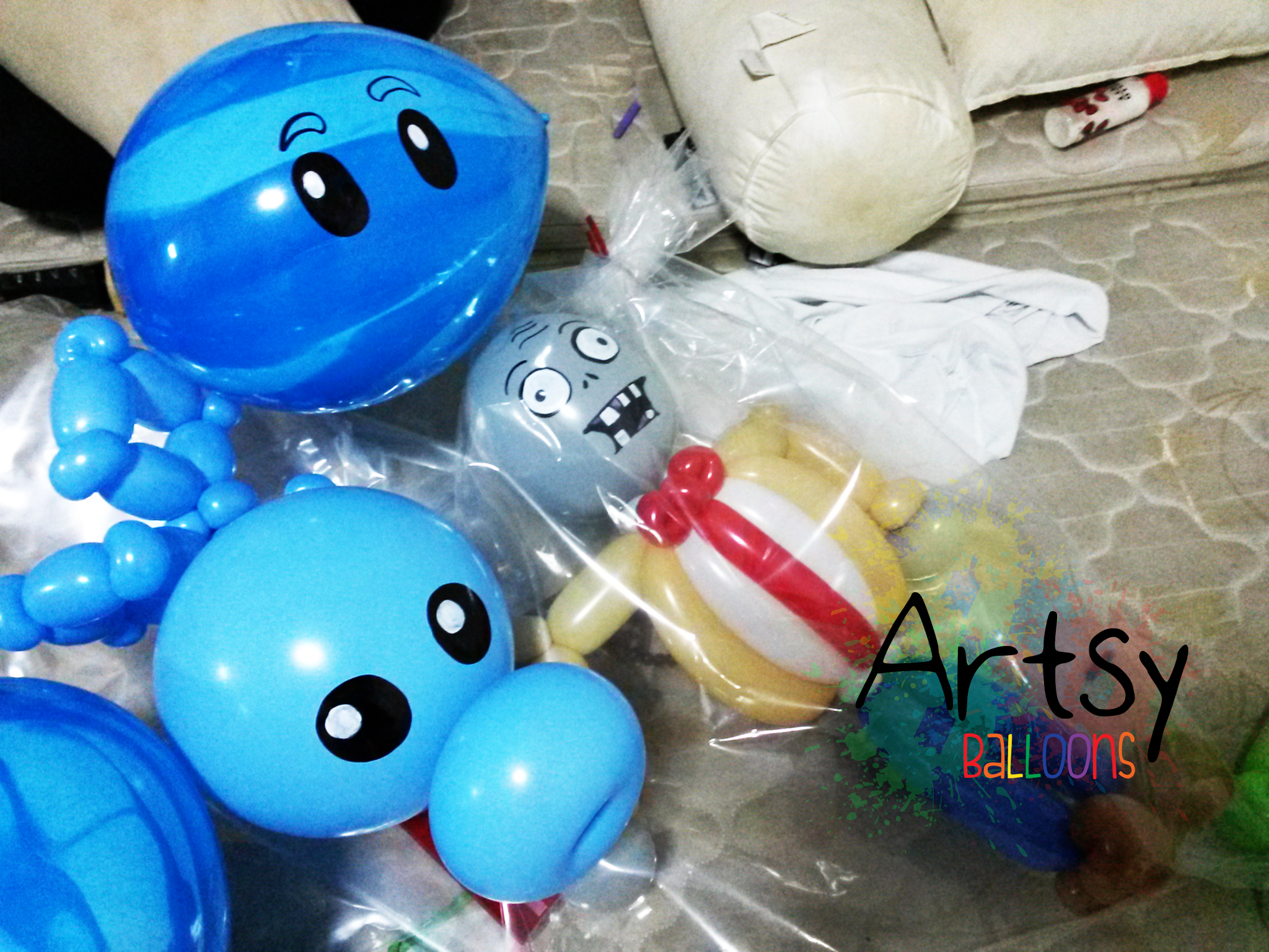, Plants VS Zombie Themed Party!, Singapore Balloon Decoration Services - Balloon Workshop and Balloon Sculpting