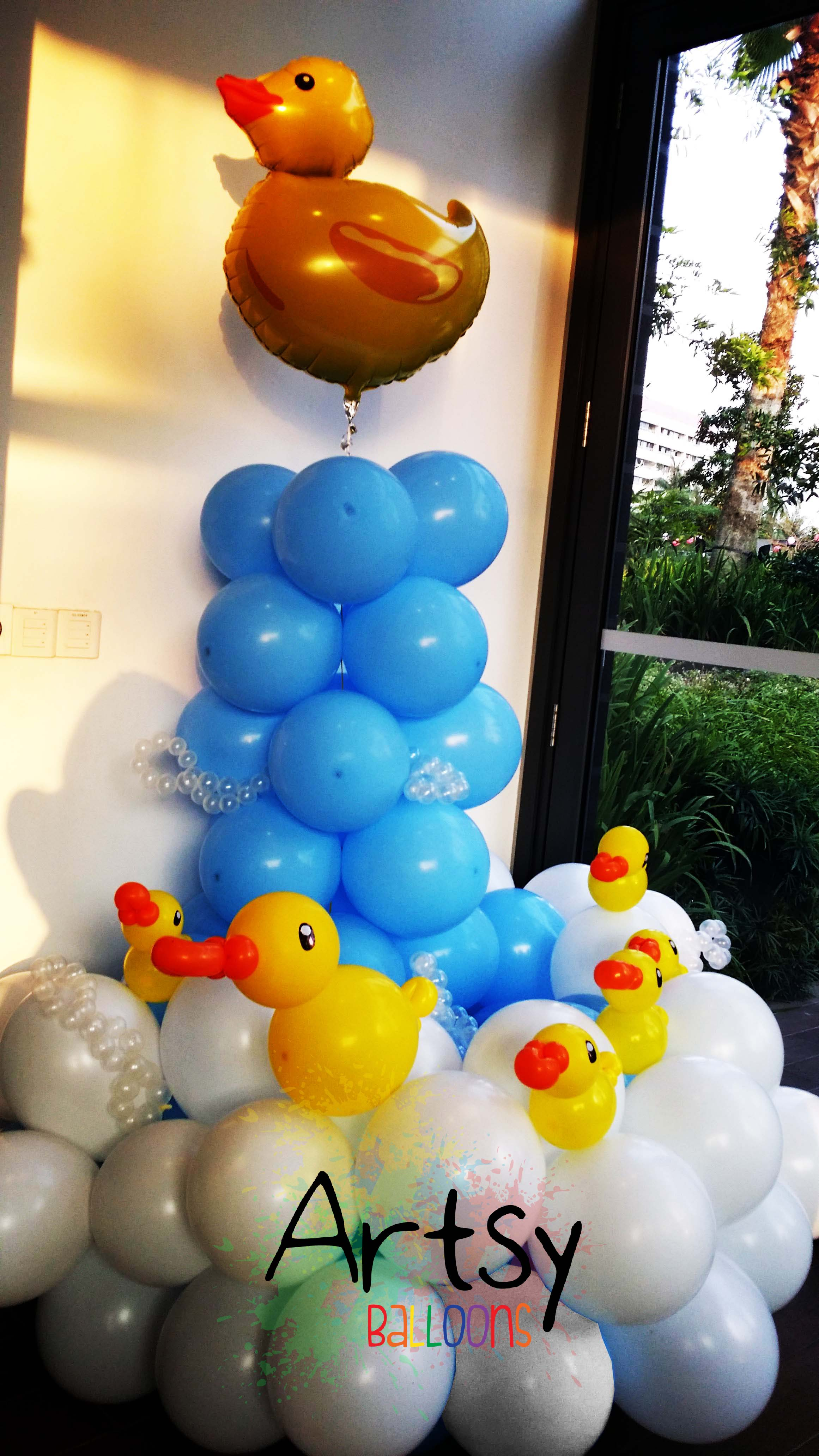 , Fully Customised Balloon Backdrop + Arch with Advance Letterings + Rainbow Arch + Balloon Apple Tree  + Balloon Girl + Birthday Cake, Singapore Balloon Decoration Services - Balloon Workshop and Balloon Sculpting