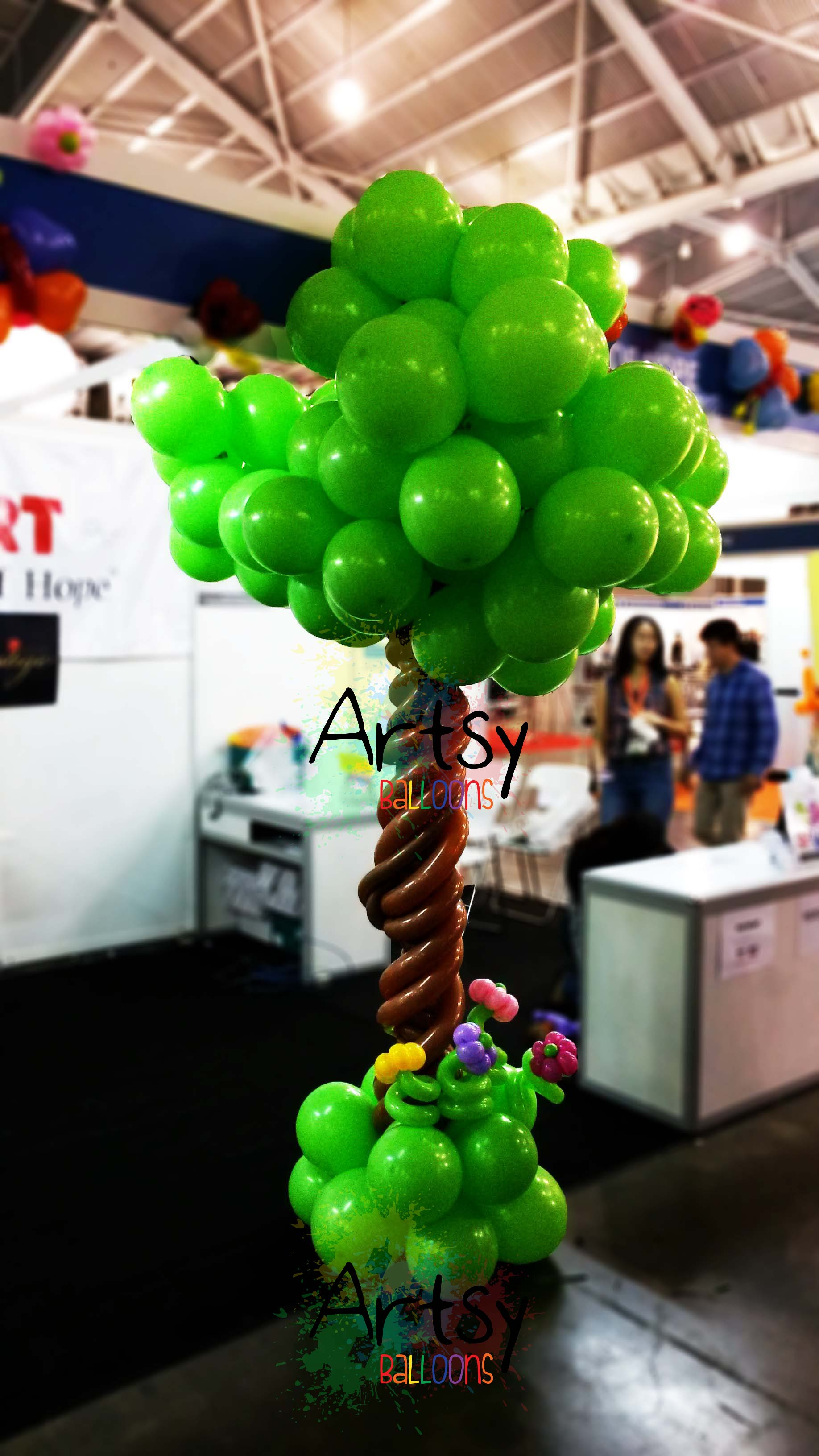 , A simple balloon decoration for a Expo booth!, Singapore Balloon Decoration Services - Balloon Workshop and Balloon Sculpting