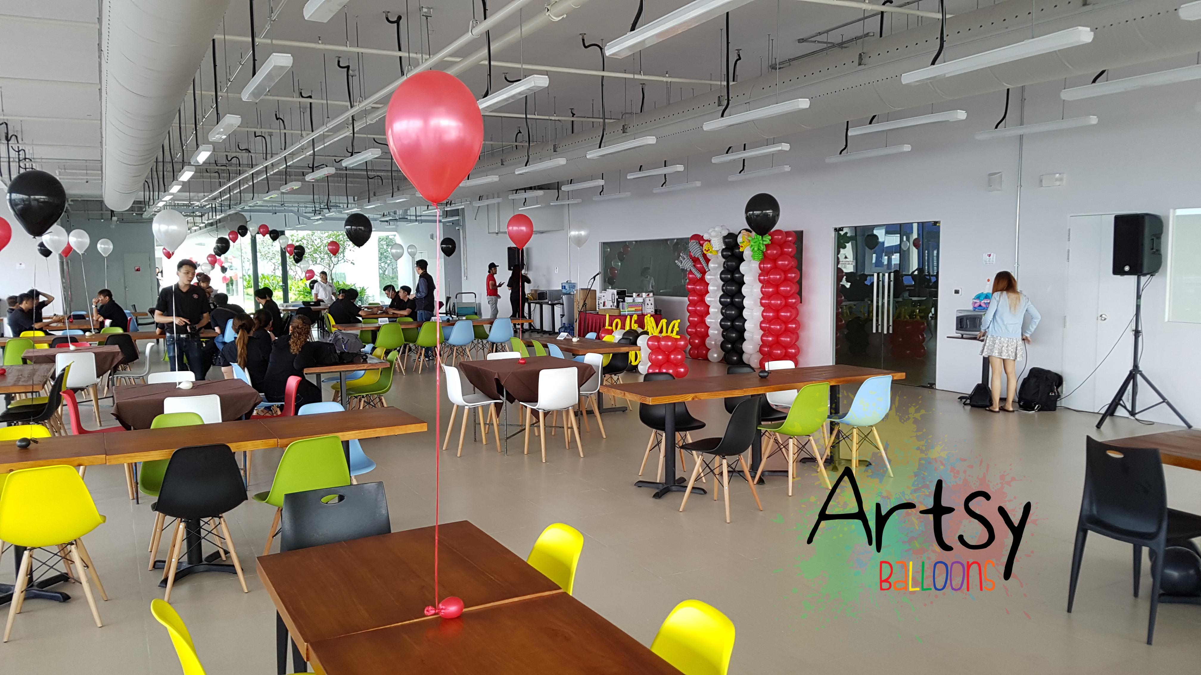 , Helium balloon decorations, Singapore Balloon Decoration Services - Balloon Workshop and Balloon Sculpting