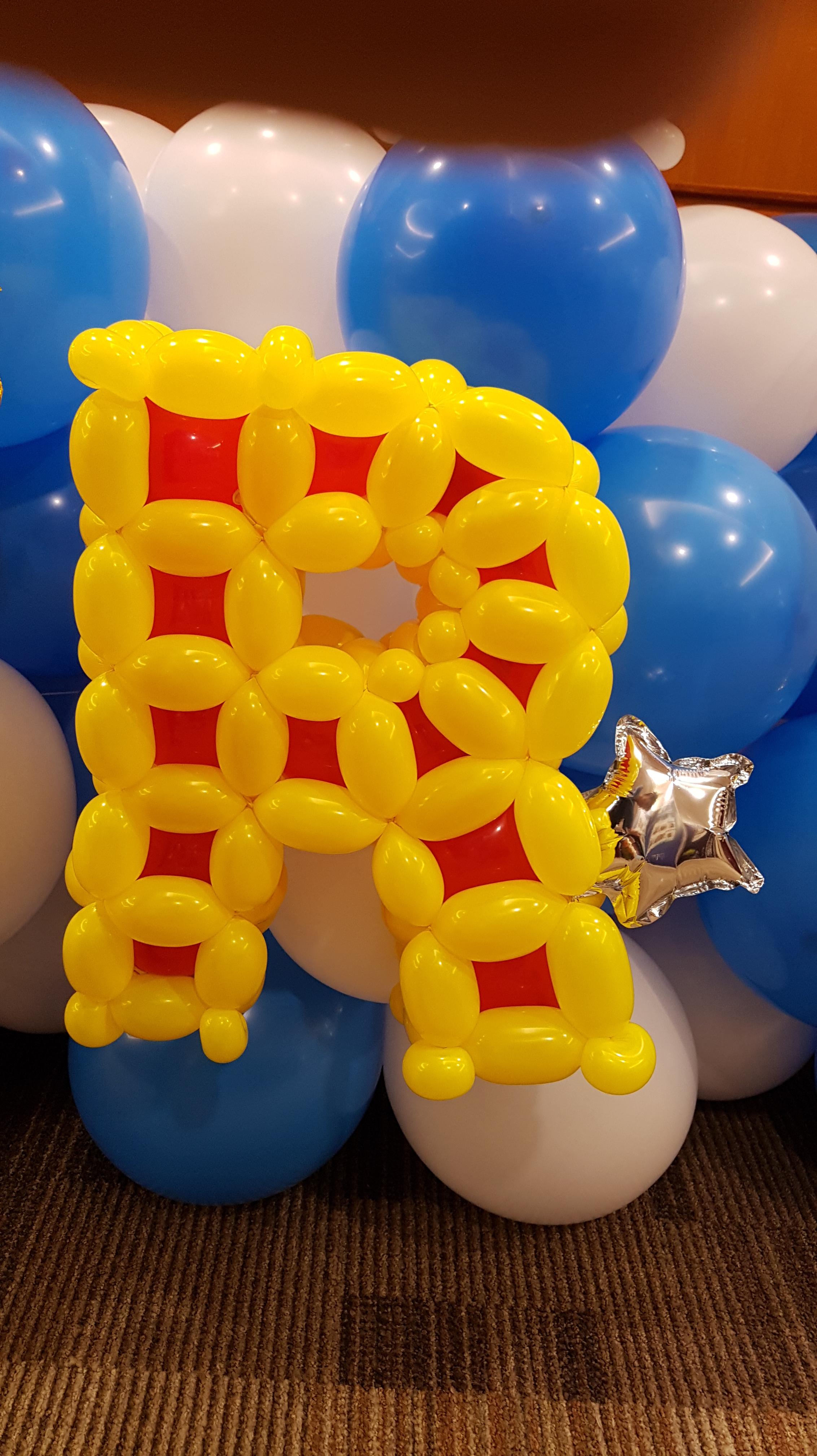 , Balloon Alphabets, Singapore Balloon Decoration Services - Balloon Workshop and Balloon Sculpting