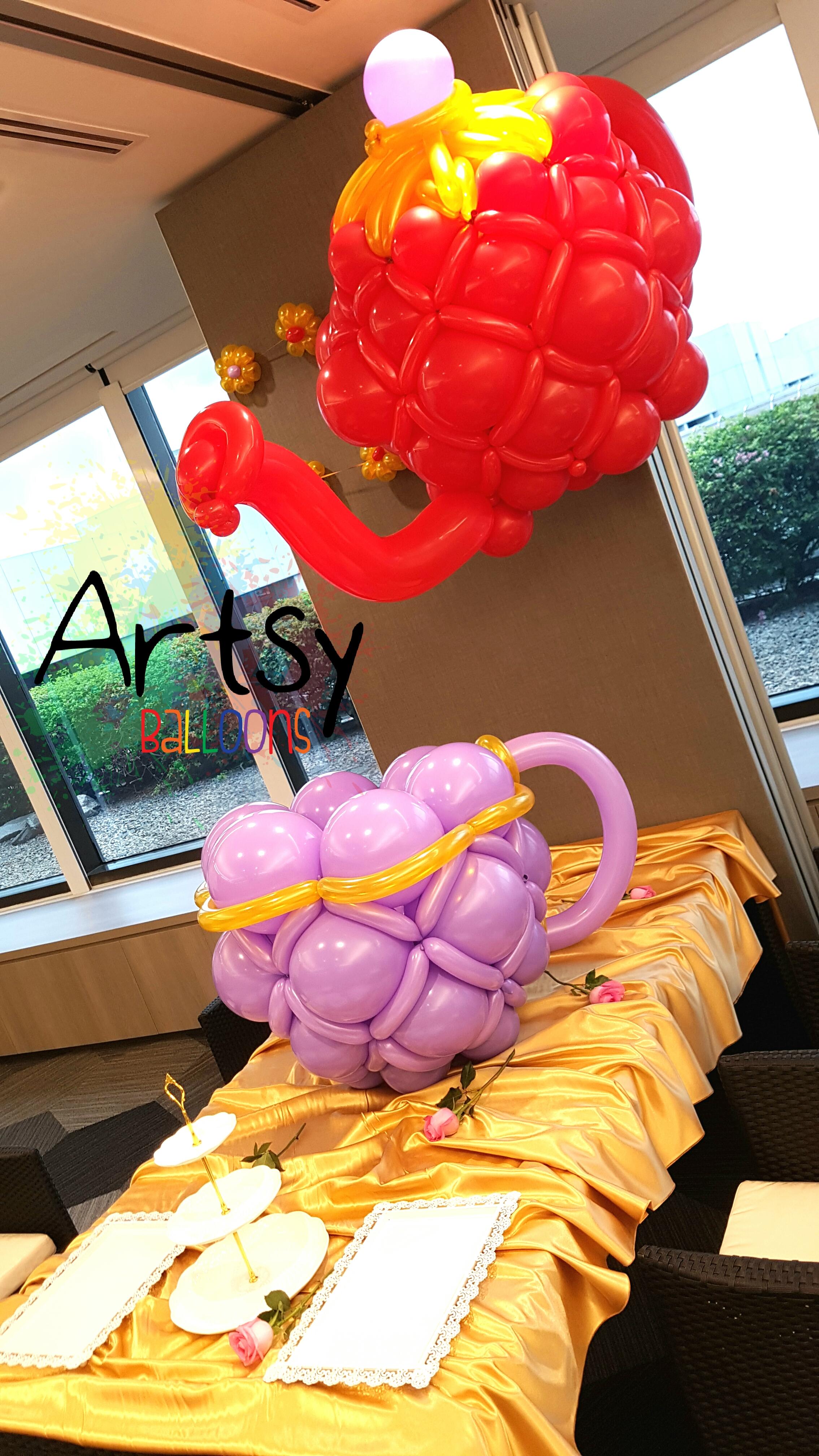 , Have you ever seen a balloon teapot?!, Singapore Balloon Decoration Services - Balloon Workshop and Balloon Sculpting