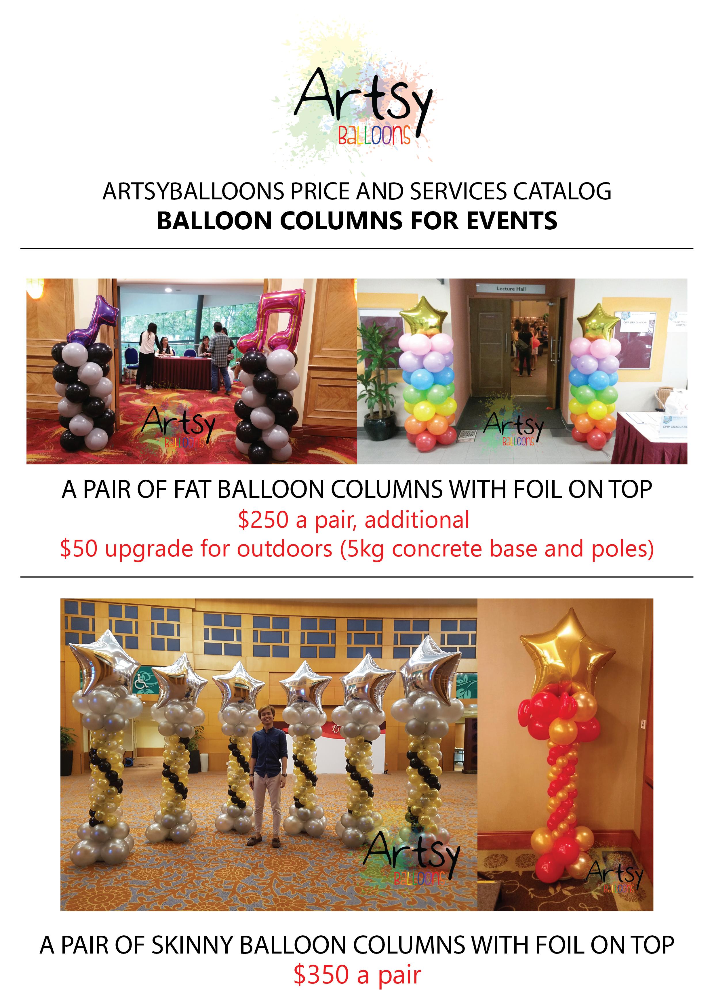 , 2018 Artsyballoons service catalog, Singapore Balloon Decoration Services - Balloon Workshop and Balloon Sculpting