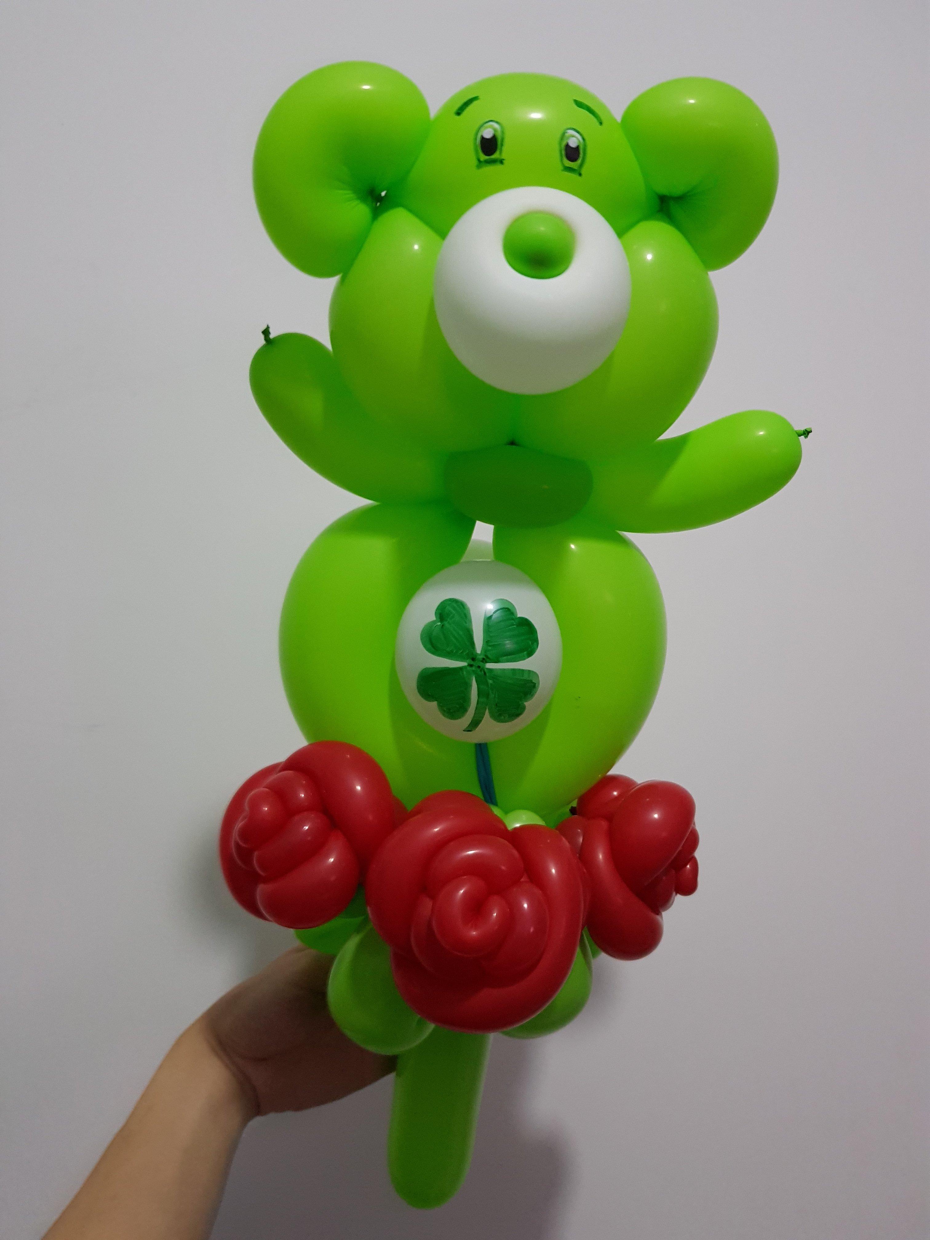 , Care Bear balloon sculptures, Singapore Balloon Decoration Services - Balloon Workshop and Balloon Sculpting