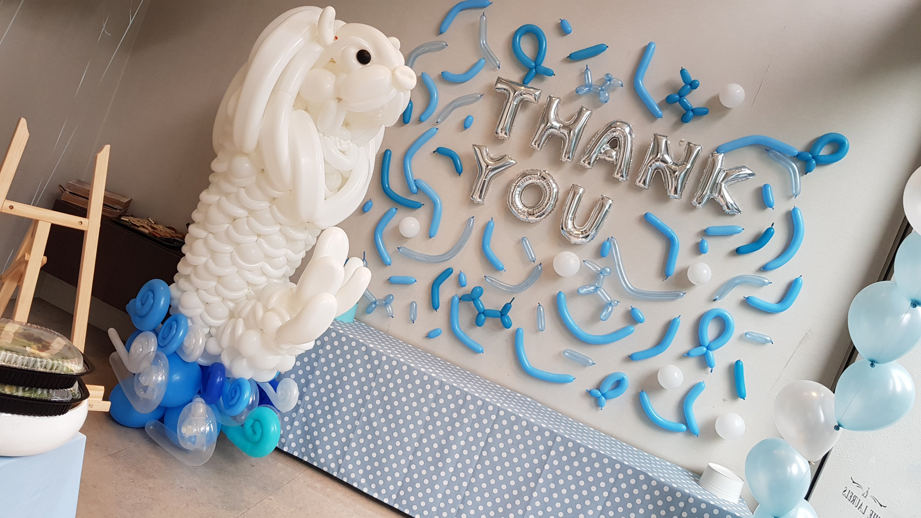 , Merlion balloon sculpture for farewell party!, Singapore Balloon Decoration Services - Balloon Workshop and Balloon Sculpting