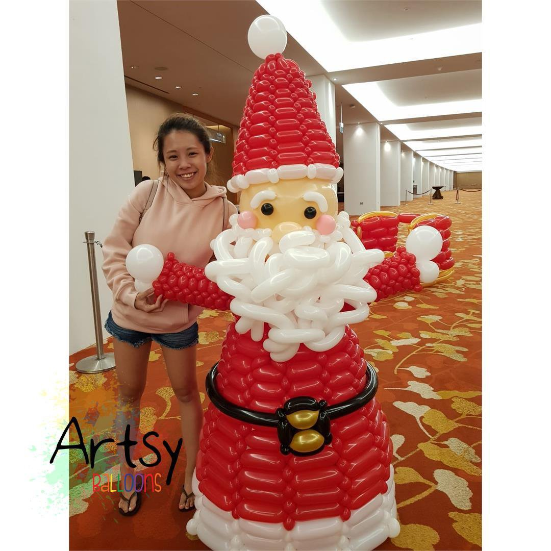 , Christmas balloon decorations!, Singapore Balloon Decoration Services - Balloon Workshop and Balloon Sculpting