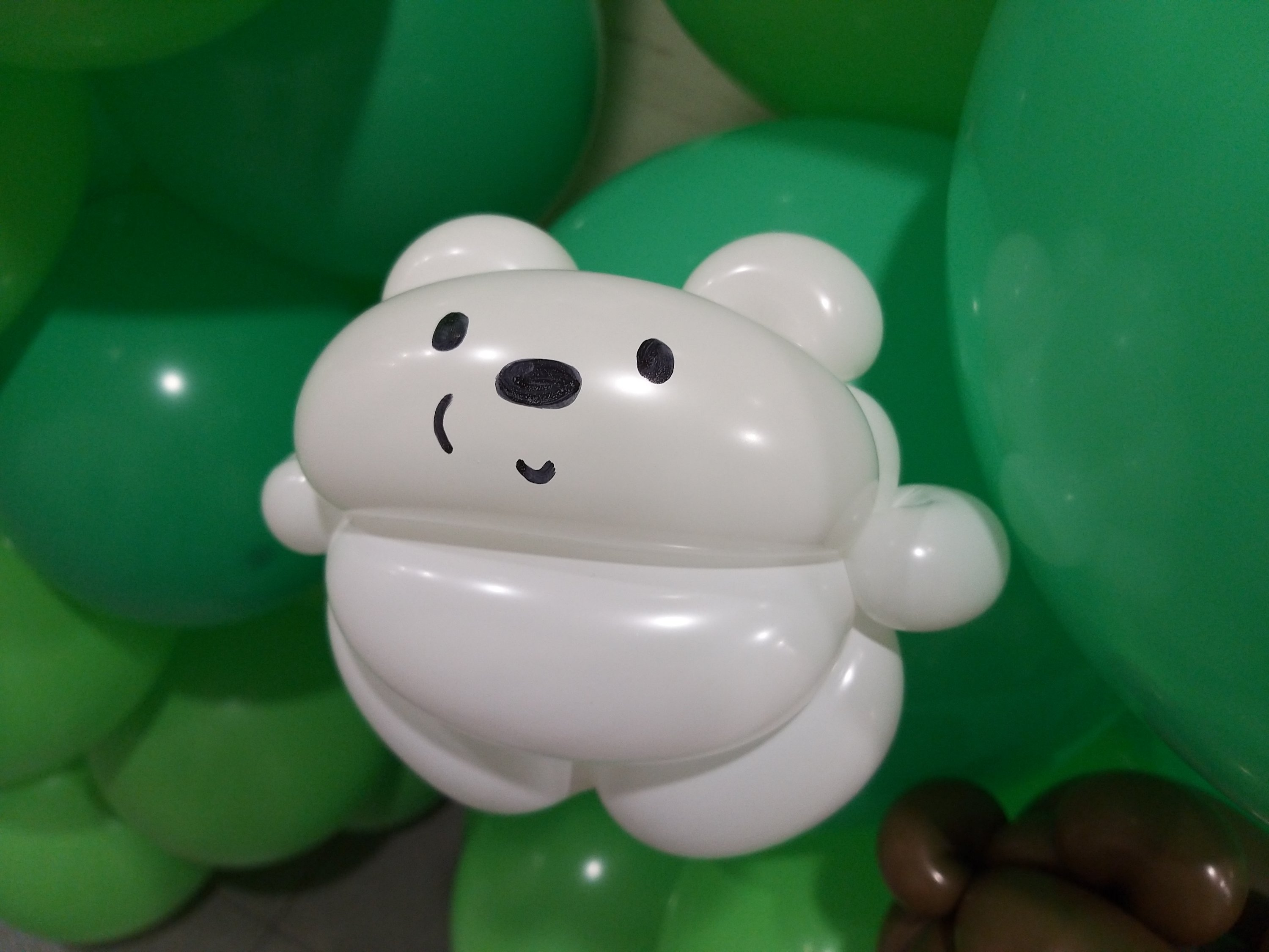 , We Bare Bears balloon decorations for a birthday party!, Singapore Balloon Decoration Services - Balloon Workshop and Balloon Sculpting