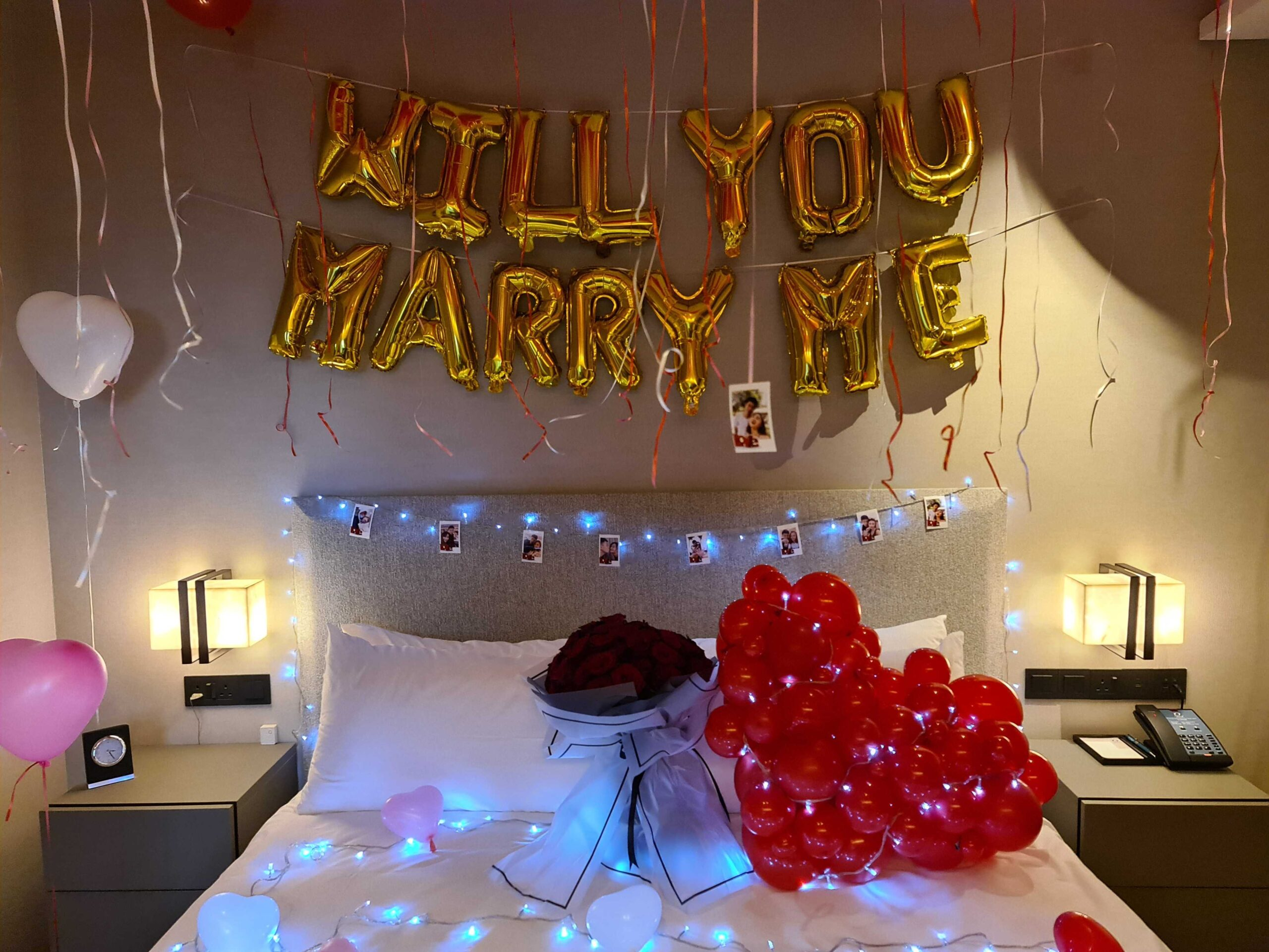 , Wedding Proposal Balloon Decorations For Hotel Room Balloon Decorations Styling, Singapore Balloon Decoration Services - Balloon Workshop and Balloon Sculpting