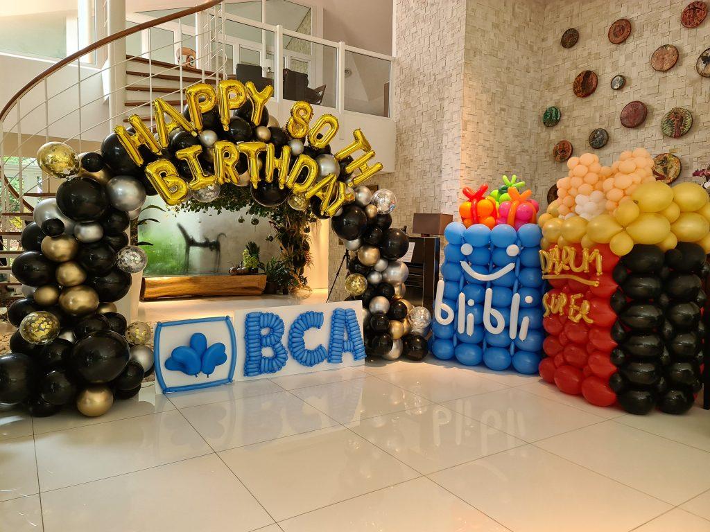 , Happy 80th Birthday! Organic Balloon Arch, Singapore Balloon Decoration Services - Balloon Workshop and Balloon Sculpting